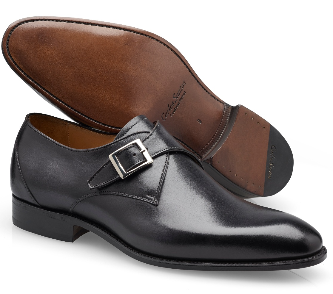 Single Buckle Shoes - Gareth Noir Shadow