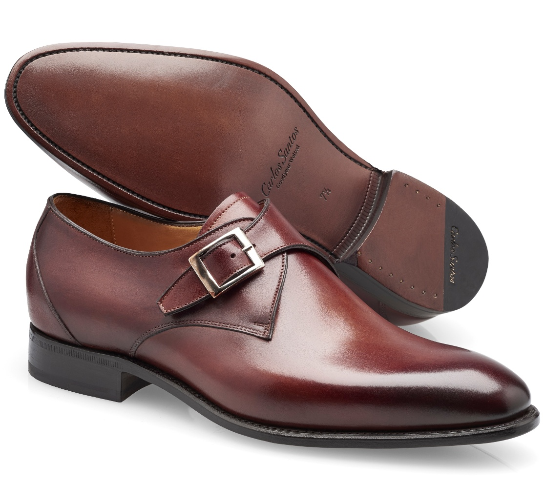 Single Buckle Shoes - Gareth Wine Shadow