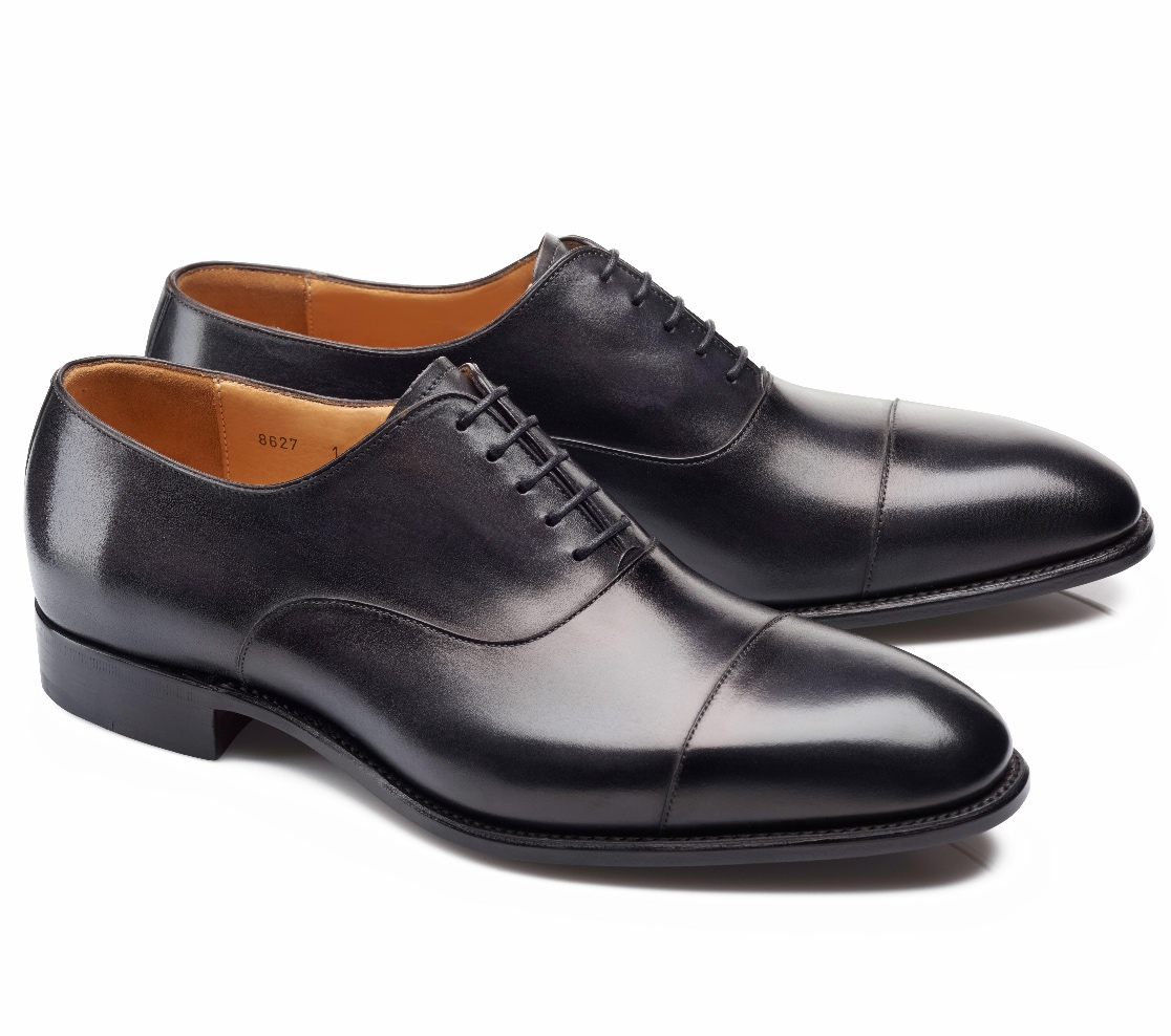 Cap Toe Shoes - Harold Noir Shadow